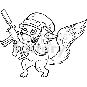 nam fox clipart. Commercial use image # 410528