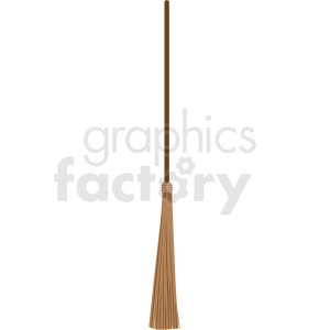 skinny broom vector clipart