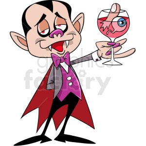 cartoon dracula drinking cocktails clipart. Royalty-free image # 410560