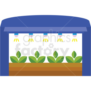 agriculture indoor watering system vector icon