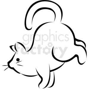 black and white cartoon cat doing yoga rooster pose vector clipart. Commercial use image # 410658