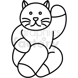 japanese cat vector icon clipart. Commercial use image # 410685