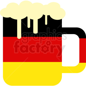 Oktoberfest beer mug with Germany flag clipart. Royalty-free image # 410711