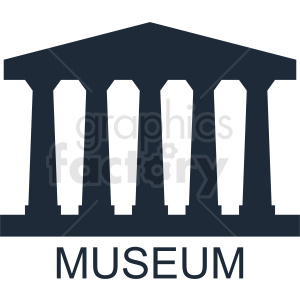 museum vector logo template clipart. Royalty-free image # 410749