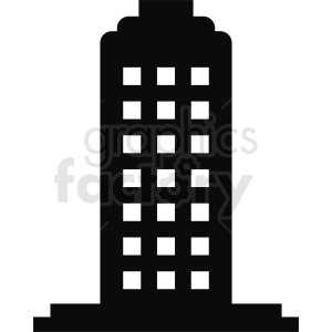 tall office building vector clipart clipart. Commercial use image # 410766