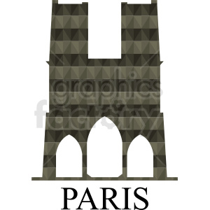 Notre Dame building Paris vector design clipart. Royalty-free image # 410768