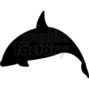 vector dolphin silhouette clipart. Commercial use image # 410780