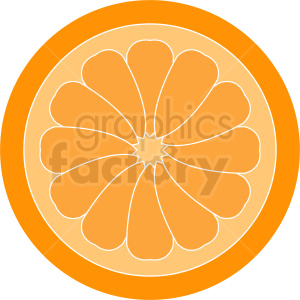 sliced orange vector icon clipart. Royalty-free image # 410784