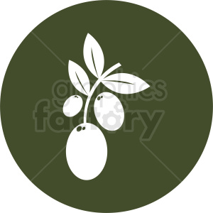 olive vector icon clipart. Royalty-free image # 410789