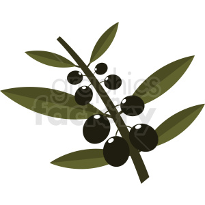 olive branch design clipart. Royalty-free image # 410806