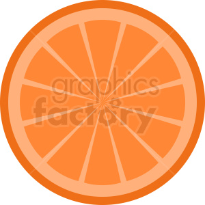 orange slice vector clipart clipart. Royalty-free image # 410807