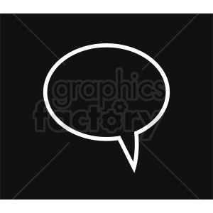 speech bubble vector clipart on black background clipart. Commercial use image # 410865