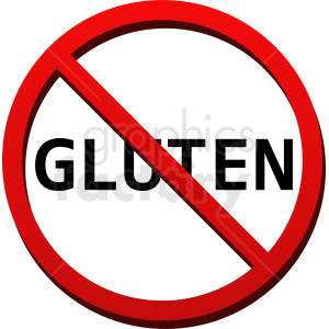 no gluten vector clipart. Commercial use image # 410867
