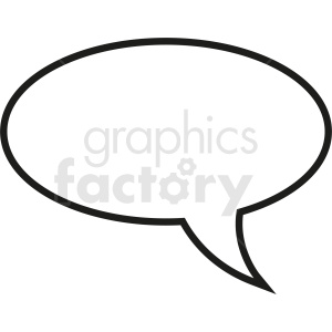 speech bubble outline no background clipart. Royalty-free image # 410869