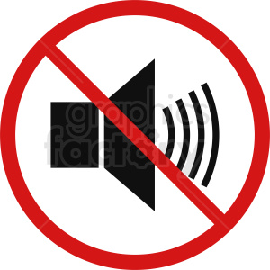 no sound vector icon