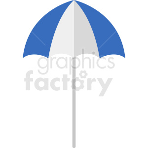 blue umbrella vector clipart clipart. Royalty-free image # 410934