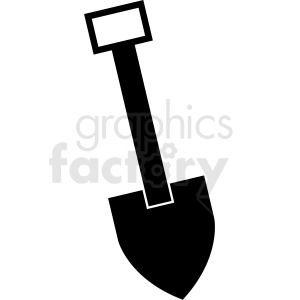 shovel vector icon clipart. Royalty-free image # 410936