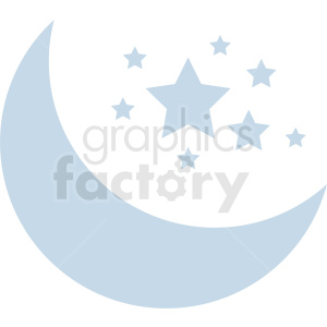 moon vector icon with stars clipart. Royalty-free image # 410937