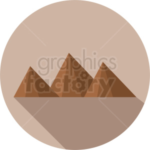 mountain scene on circle background clipart. Royalty-free image # 410948