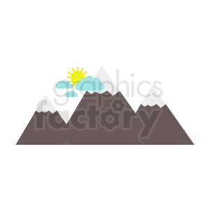 mountain flat vector icon clipart. Royalty-free image # 410949