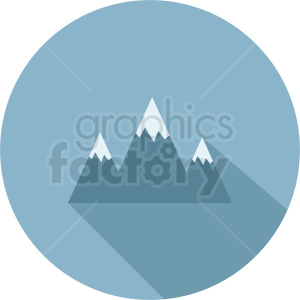 light blue mountain vector icon on circle background clipart. Commercial use image # 410962