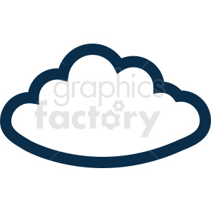 cloud vector clipart clipart. Commercial use image # 410971