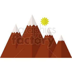 red mountain flat vector icon clipart. Commercial use image # 410976