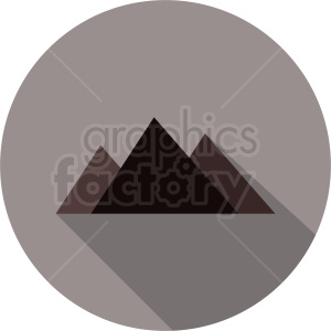 mountain design on circle background clipart. Commercial use image # 410991
