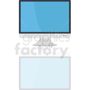 monitor vector clipart clipart. Royalty-free image # 411004