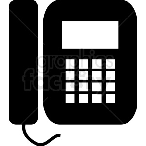 office land line phone icon clipart. Royalty-free image # 411018