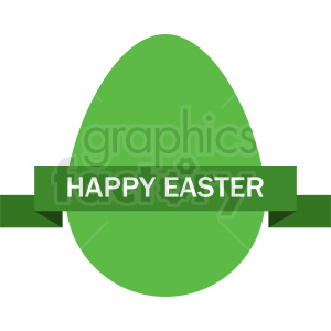 green happy easter egg with label vector clipart clipart. Commercial use image # 411048