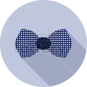 bow tie vector icon on circle background