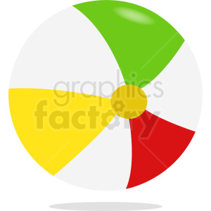 vector beach ball clipart. Commercial use image # 411085