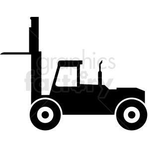 heavy lifting fork lift vector clipart