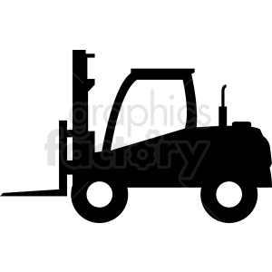 large fork lift vector clipart clipart. Commercial use image # 411098