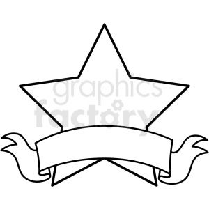 doodle notes elements star with banner clipart. Royalty-free image # 411137