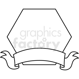 doodle notes elements banner with hexagon clipart. Royalty-free image # 411146