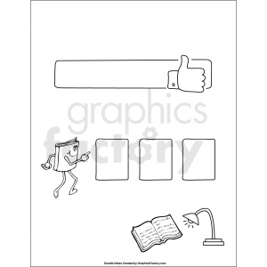 doodle notes printable page for book report essay clipart. Commercial use image # 411156