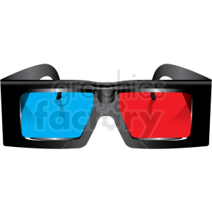 3d glasses vector clipart clipart. Commercial use image # 411175