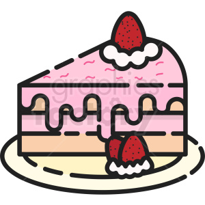 strawberry cake vector clipart clipart. Royalty-free image # 411202