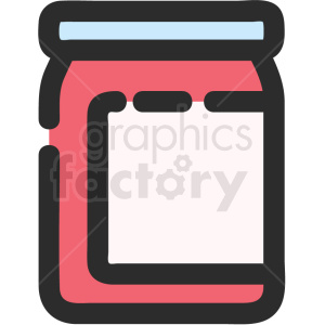 jam jar vector icon clipart. Royalty-free image # 411211