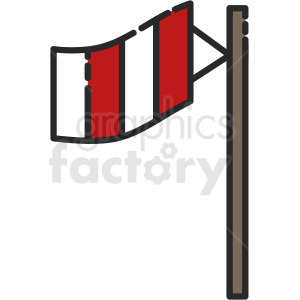 windsock vector clipart
