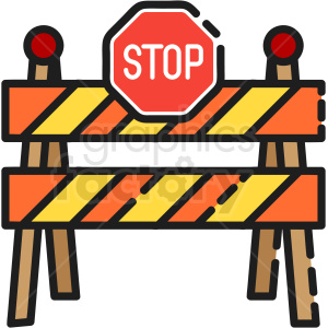 road construction vector clipart clipart. Royalty-free image # 411221