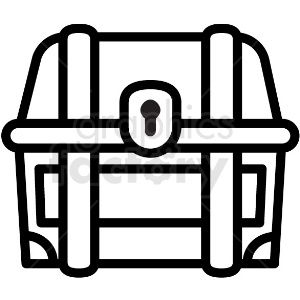 treasure chest outline vector icon clipart. Royalty-free image # 411241