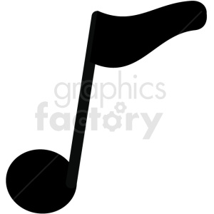 music eighth note design vector image clipart. Royalty-free image # 411244