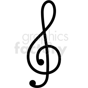 treble clef vector clipart clipart. Commercial use image # 411251