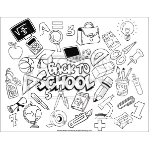 back to school printable page clipart. Commercial use image # 411254