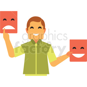 salesman flat icon vector icon clipart. Royalty-free image # 411288