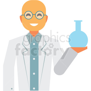 scientist flat icon vector icon clipart. Royalty-free image # 411318