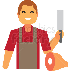butcher flat icon vector icon clipart. Royalty-free image # 411338